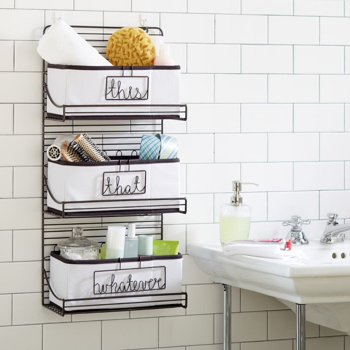 3-tier wire bath shelf Bathroom Shelf Ideas