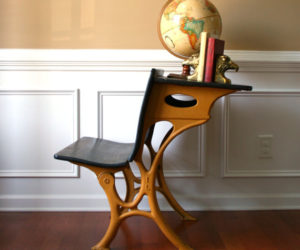 Vintage school desk for an inspiring experience at home