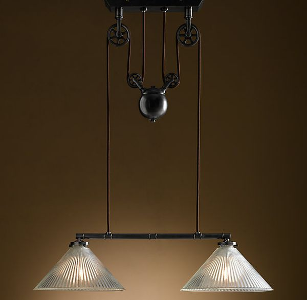 The industrial pulley double pendant view in gallery mozeypictures Image collections