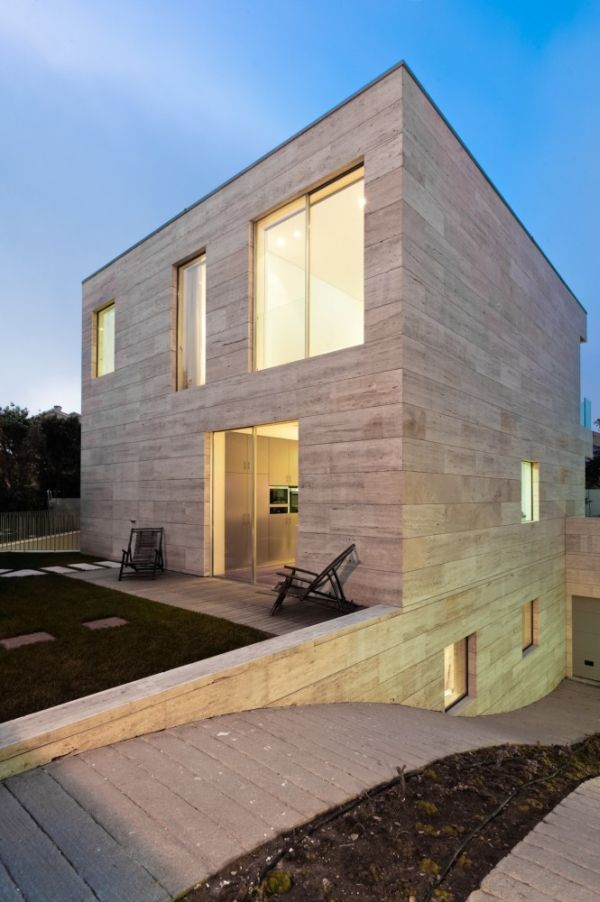 Contemporary cube house in Portugal on modern box house design, home decorating interior design, minimalist design living room, tv wall design,