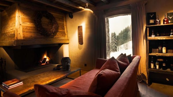 the enchanting le chalet zannier in the french alps. Black Bedroom Furniture Sets. Home Design Ideas
