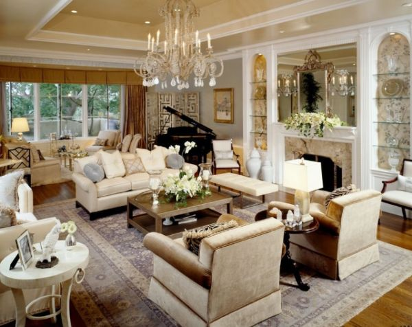 view in gallery - Chandelier Living Room Ideas