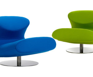 The modern Rio lounge chair by Flemming Busk and Stephan Hertzog