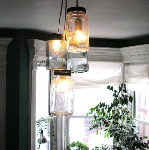 21 creative diy lighting ideas mason jar pendant lamps aloadofball Choice Image
