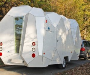 Unusual shape mobile home
