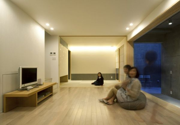 Modern minimalist residence in tokyo for Minimalist living japan