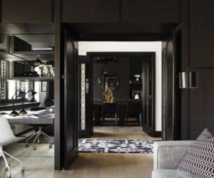 Contemporary black interior design by Mim Design