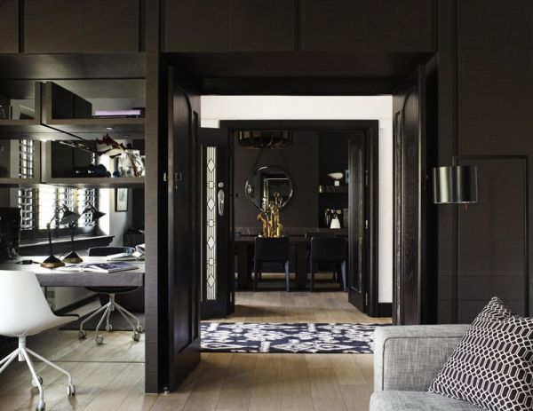 Contemporary Art Deco contemporary black interior designmim design
