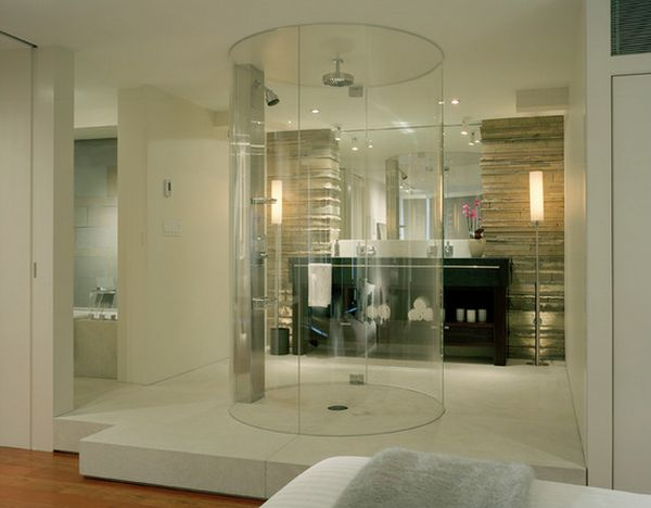 Modern trend  round shower 10 Walk In Shower Design Ideas That Can Put Your Bathroom Over The Top