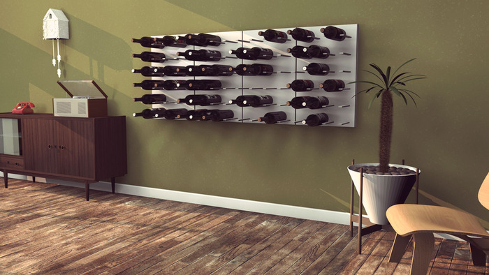 The modular Stact wine wall