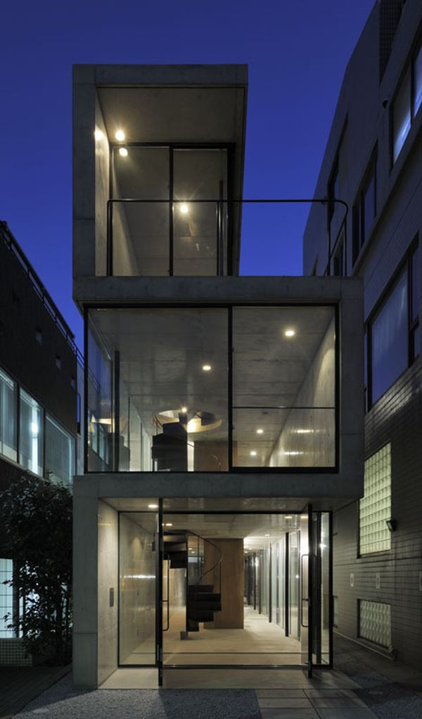 A long narrow residence in tokyo for Architecture tokyo