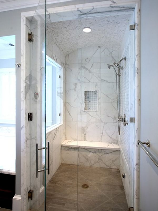 Marble showers on pinterest marble bathrooms cultured marble shower - 10 Walk In Shower Design Ideas That Can Put Your Bathroom