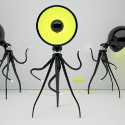 The Flexible Octopussy Floor Lamp By Vladimir Tomilov