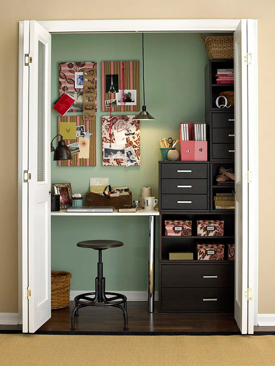 5 ways to utilize the unused linen closet Closet home office design ideas