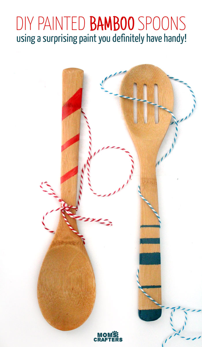 painted bamboo spoons
