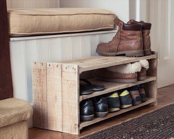 pallet shoe rack system