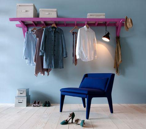 purple ladder storage for storage