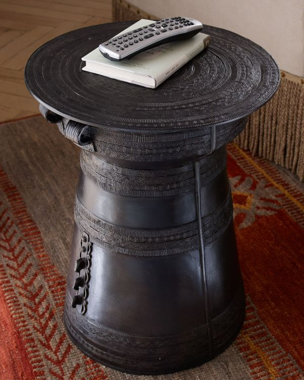 Lovely Antique Rain Drum Side Table