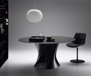 Crystal polyester table