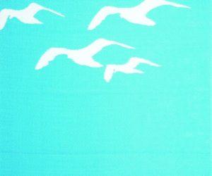 Beautiful Blue Seagull Rug