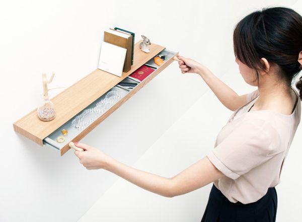 The Clopen shelf/drawer by Torafu Architects