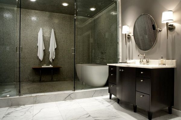 3. Shower And Steam Room In One Space.