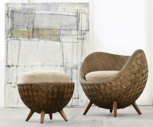La Luna-a rattan chair by Kenneth Cobonque