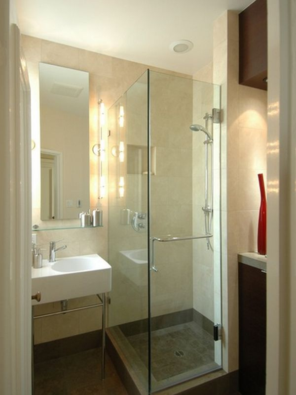 small shower unit - Bathroom Designs Using Glass Tiles