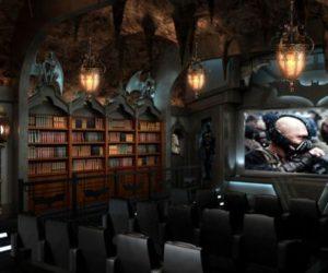 "A ""Dark Knight"" themed custom home theater"