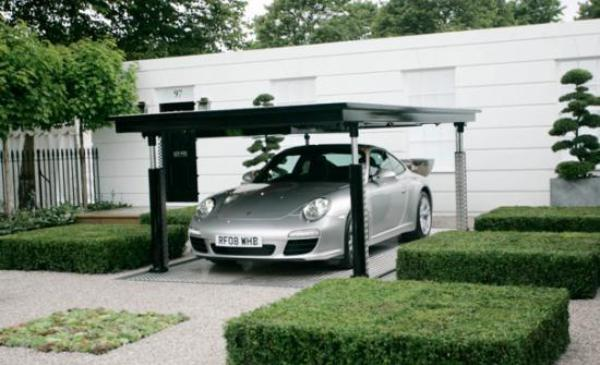 Double your parking space with the cardok parking lift for Garage automobile ouvert