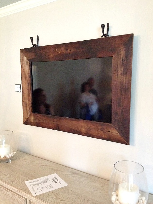 Wall Tv Reclaimed Wood Frame