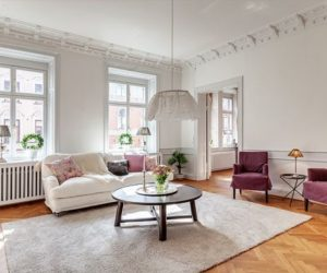 An 1890 Stockholm apartment featuring a classical Nordic décor with modern influences