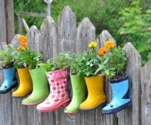 How to Make Planters from Old Rubber Boots