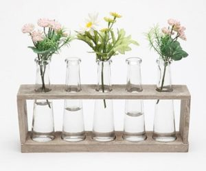 Flower Vases Shaped Like Lab Beakers