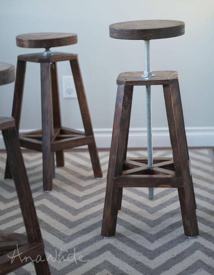diy stools Adjustable Bar Stools