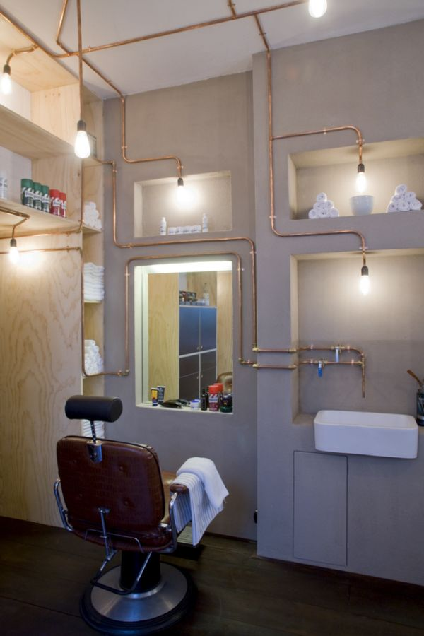 An authentic and yet innovative barber shop in the heart Interior design shops amsterdam