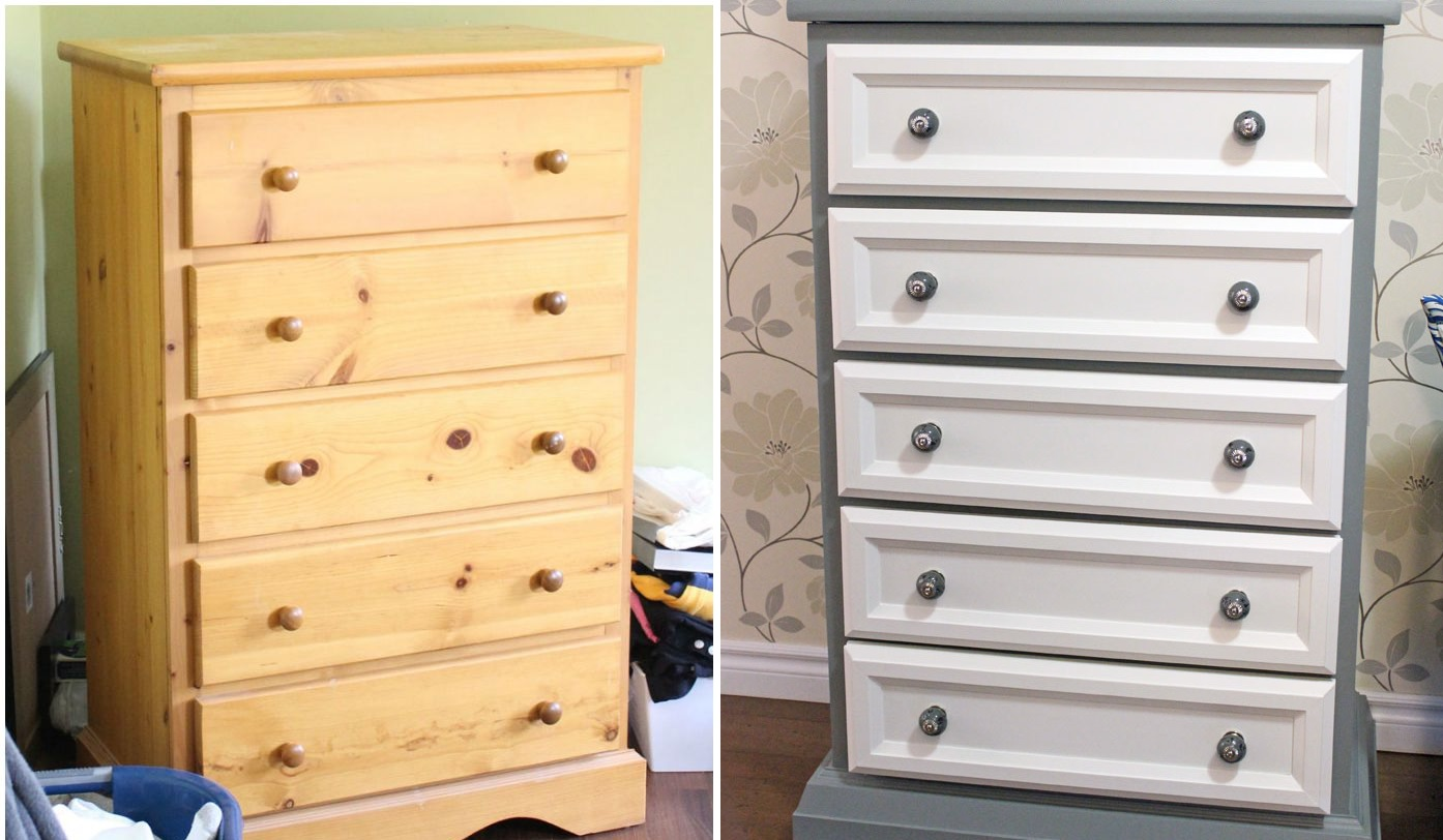 Before and after renovation dresser