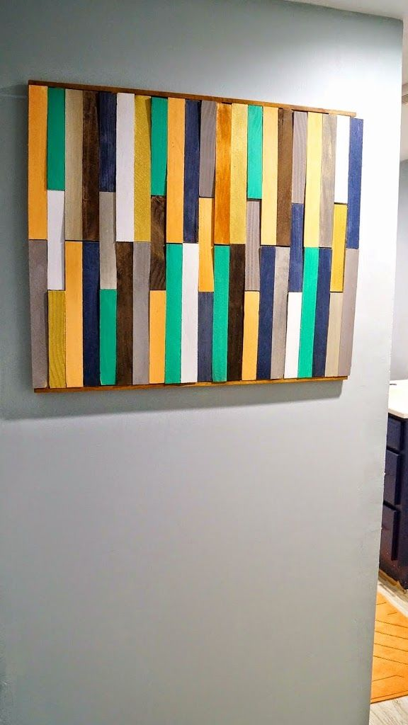 Colorfull wood wall art