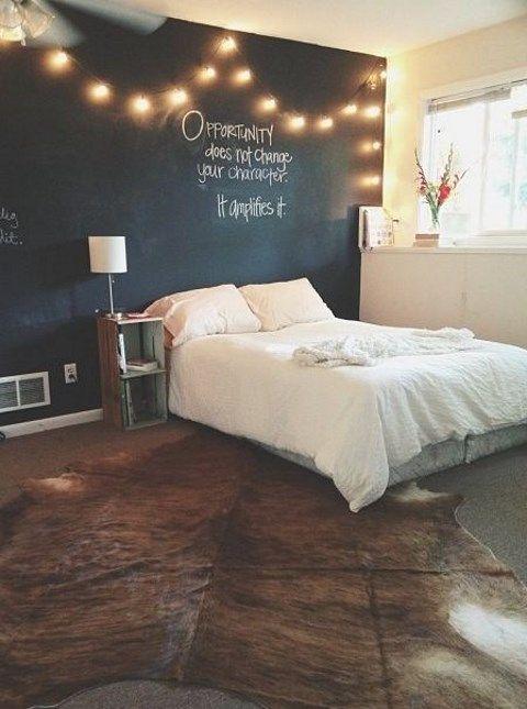 black bedroom walls Consider Creating a Chalkboard Wall
