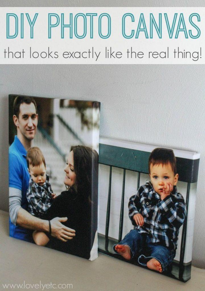 photo wall ideas DIY Photo Canvas