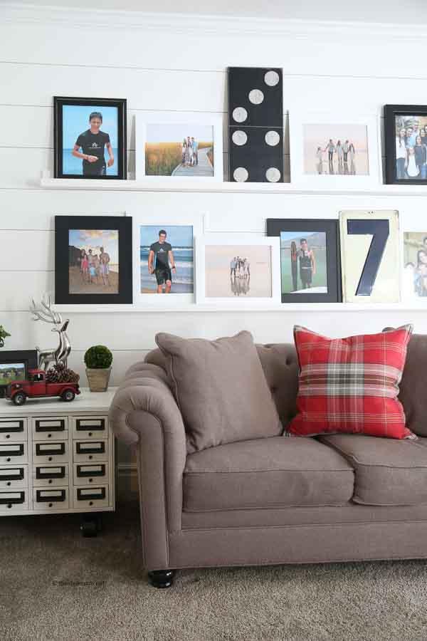 photo wall ideas DIY Photo Ledges