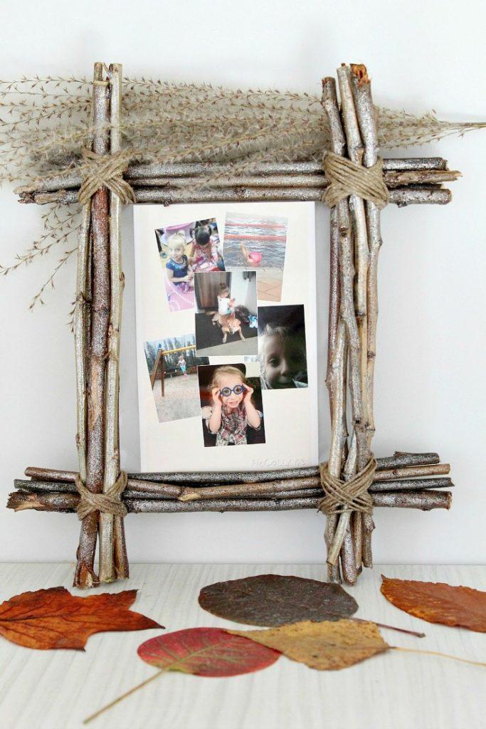 photo wall ideas DIY Rustic Photo Frame