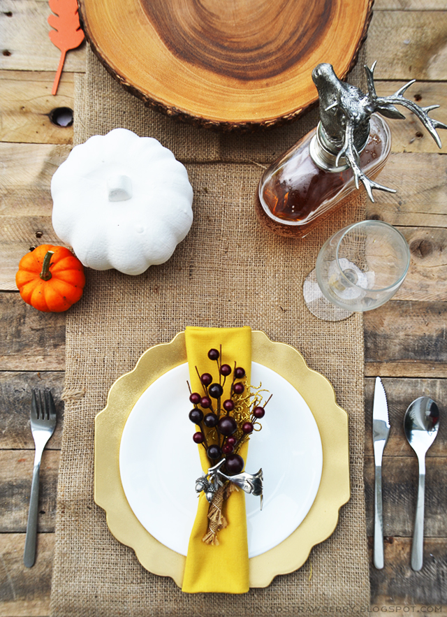 DIY fall tablescape design