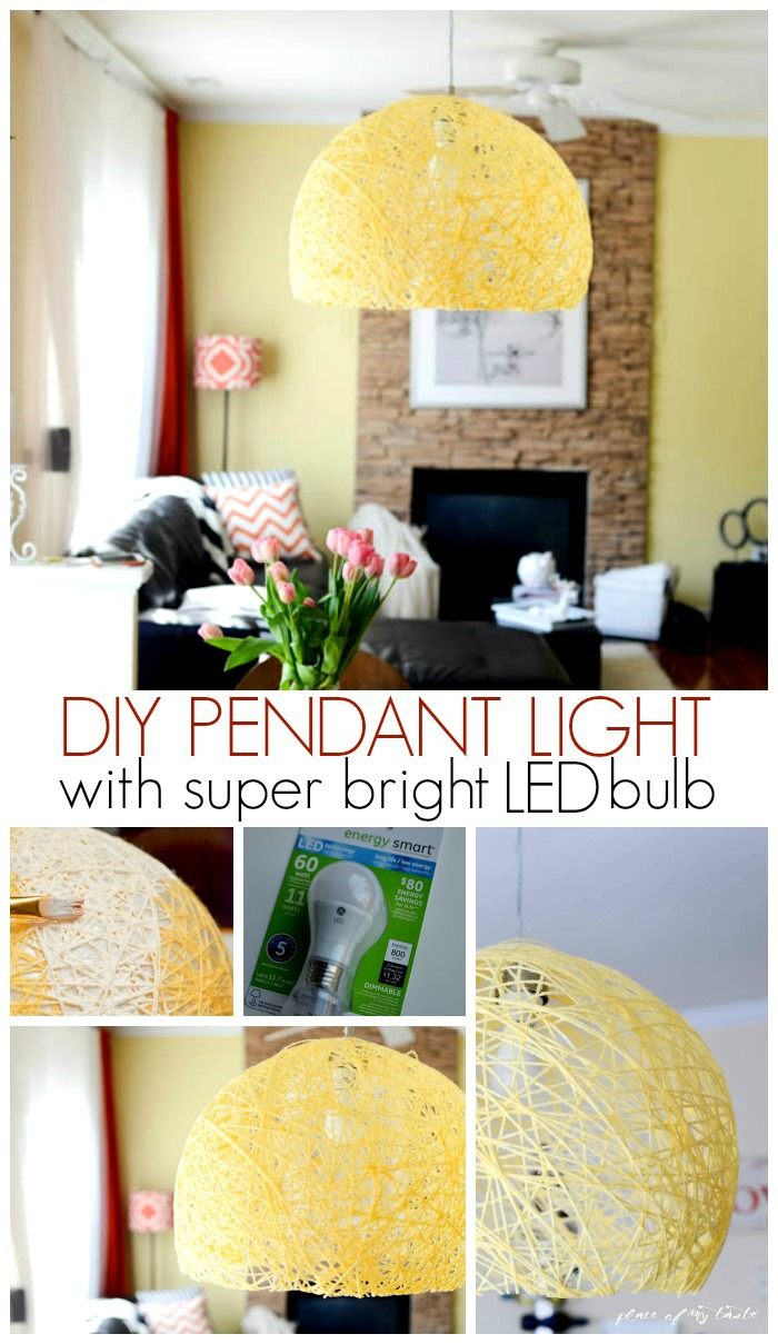 DIY pendant lamp led bulb