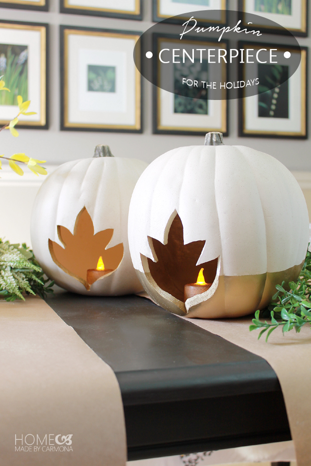 DIY pumpkins for table centerpiece