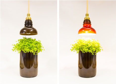 glass bottle lighting shaped view in gallery glass bottle lamps by degross studio