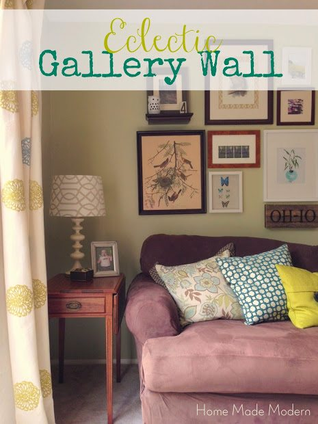 photo wall ideas Eclectic Nature-Themed Gallery Wall