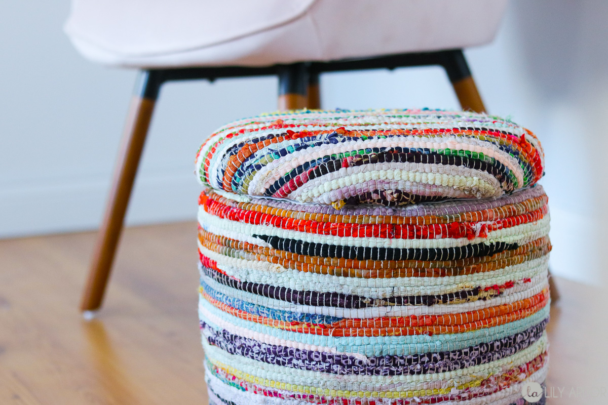 diy stools Extra Storage Cloth Stool