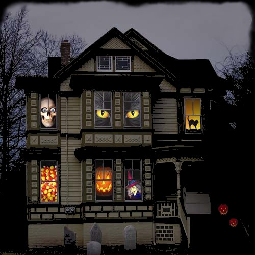 view in gallery - Halloween House Decorations