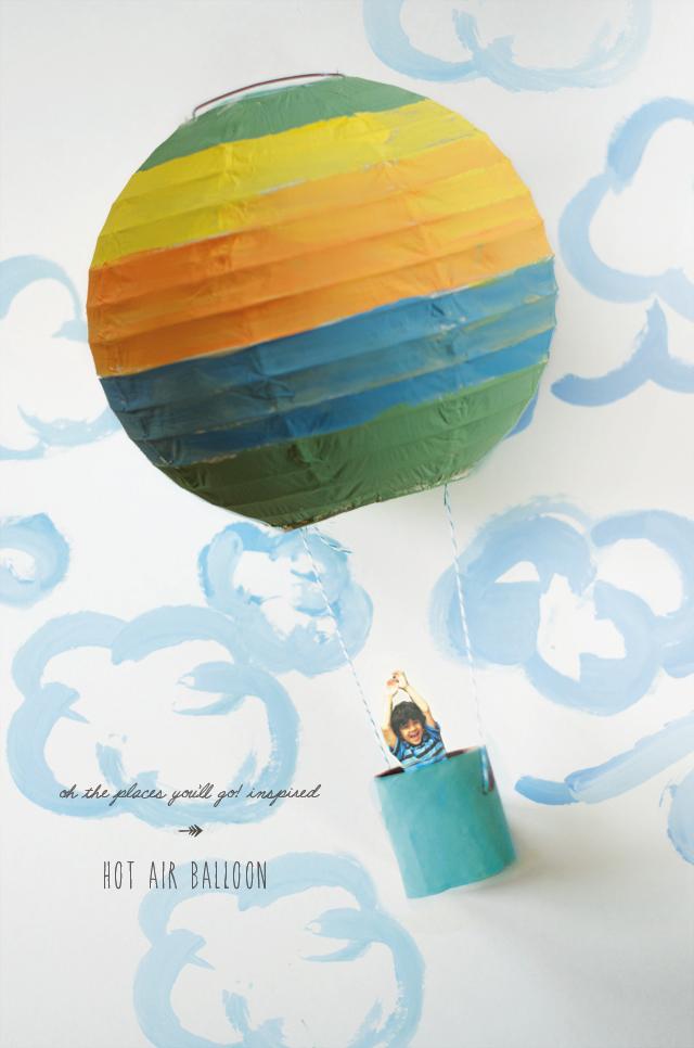 Hot air ballon from paper lantern